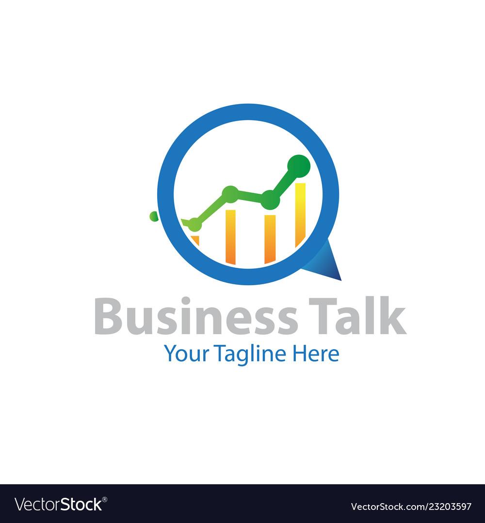 Business talk logo designs