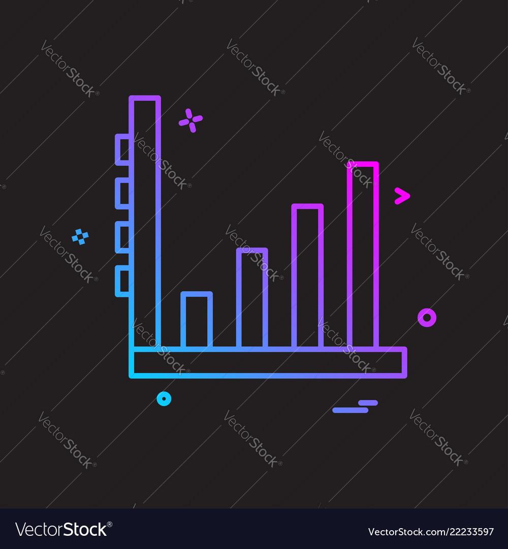 Chart icon design Royalty Free Vector Image - VectorStock