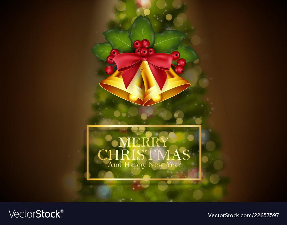 Christmas background golden bells