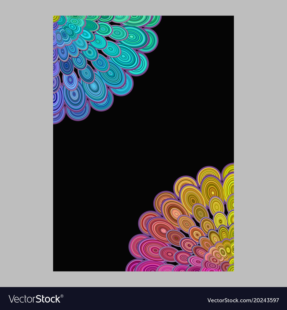 Colorful abstract floral mandala page background vector image