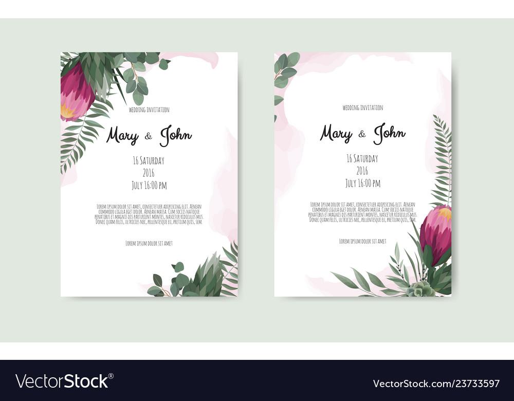 Floral botanical card design with leaves
