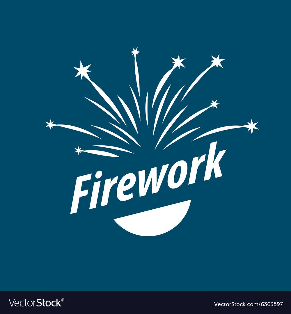 Logo abstract white fireworks