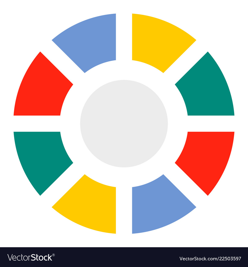 Pie chart icon flat style