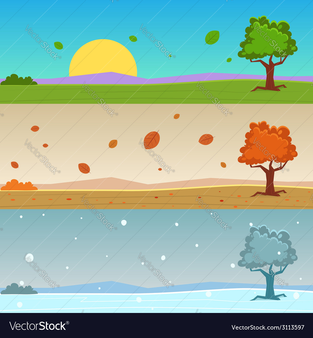 Season Cartoon Banners vector image