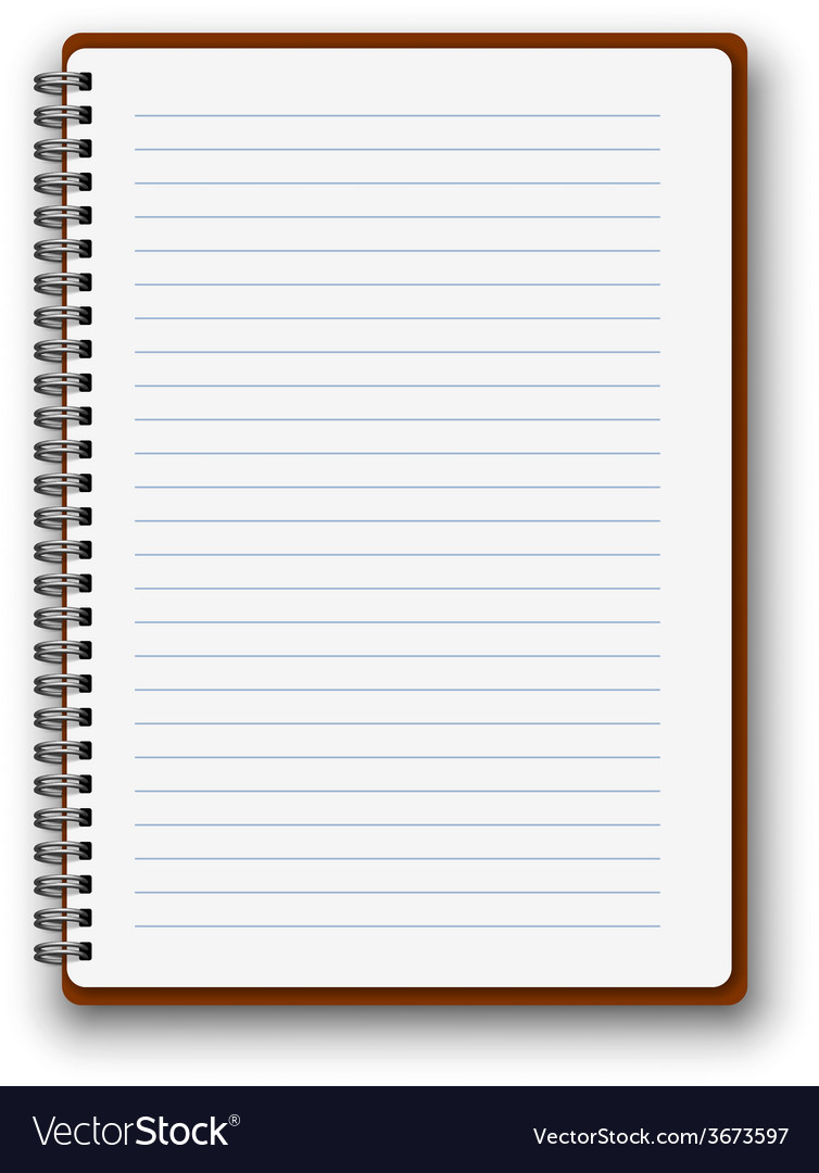 vertical notebook royalty free vector image vectorstock rh vectorstock com notebook vector png notebook vector template
