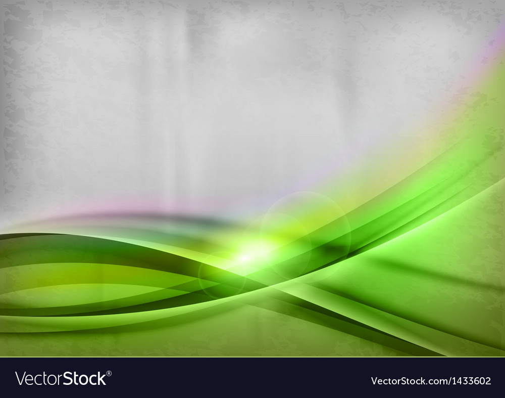 Background green two wave vector image