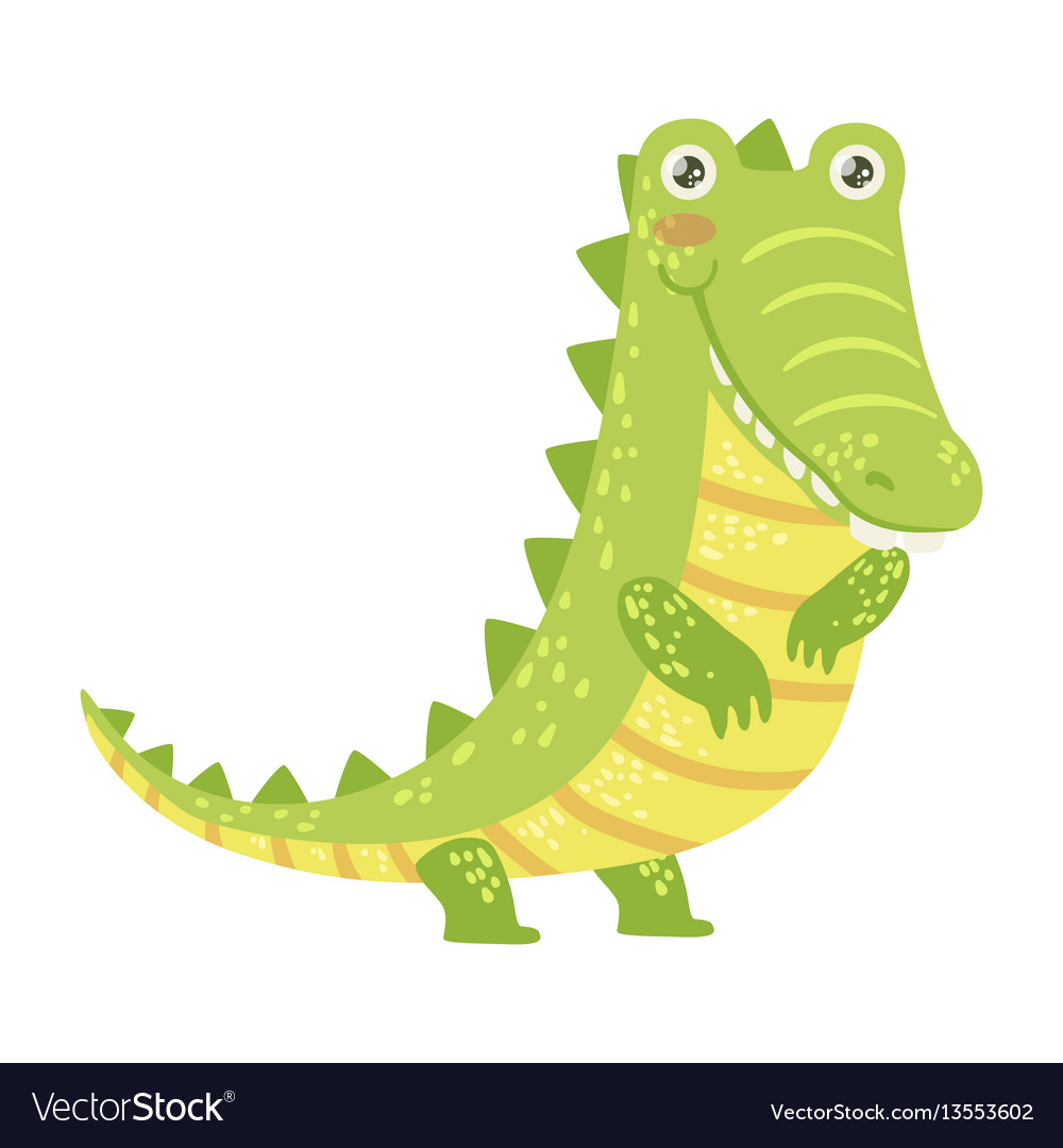 Crocodile cute toy animal with detailed elements