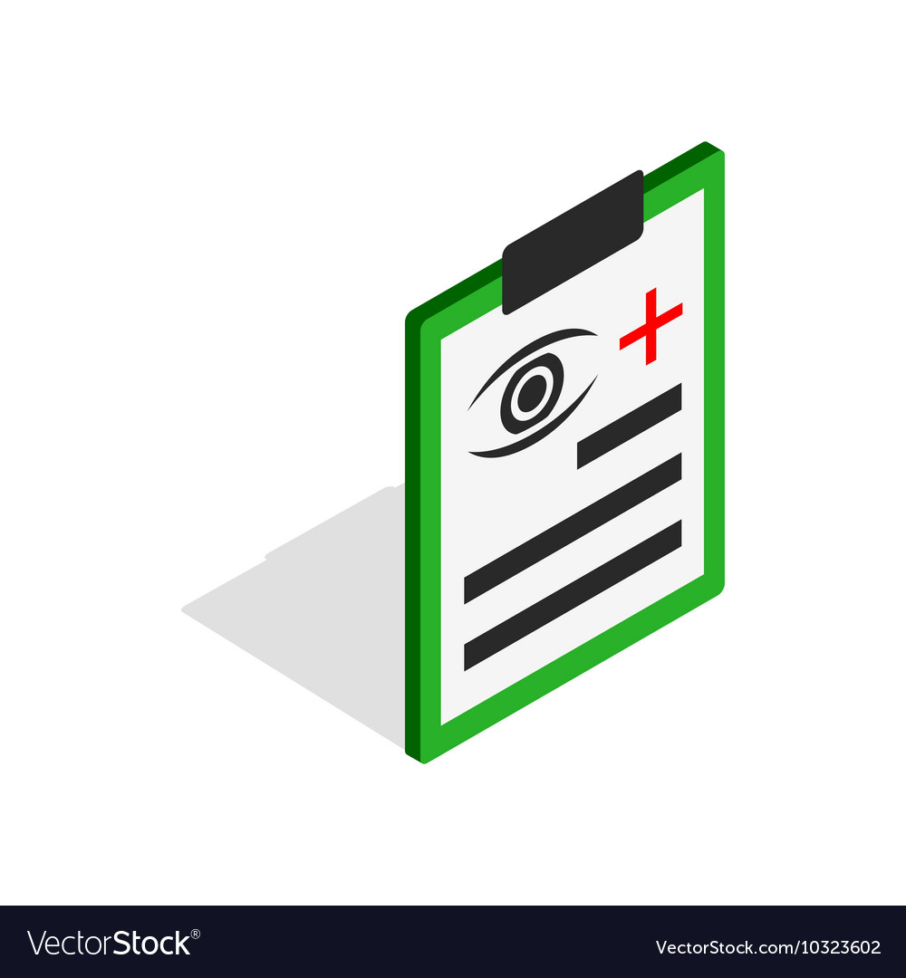 Diagnosis eye exam icon isometric 3d style