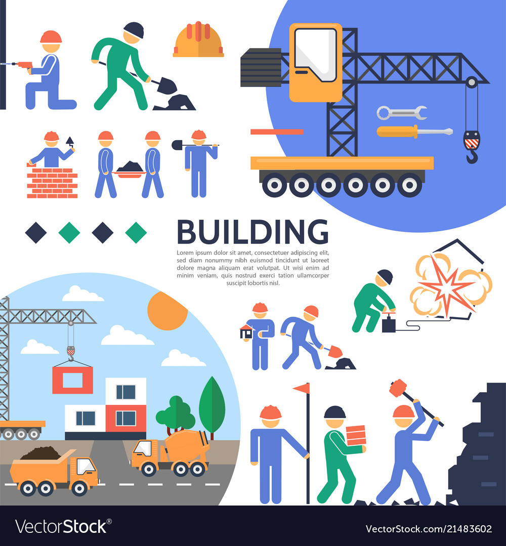 Flat building industry template