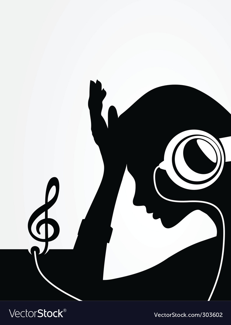 Girl in earphones