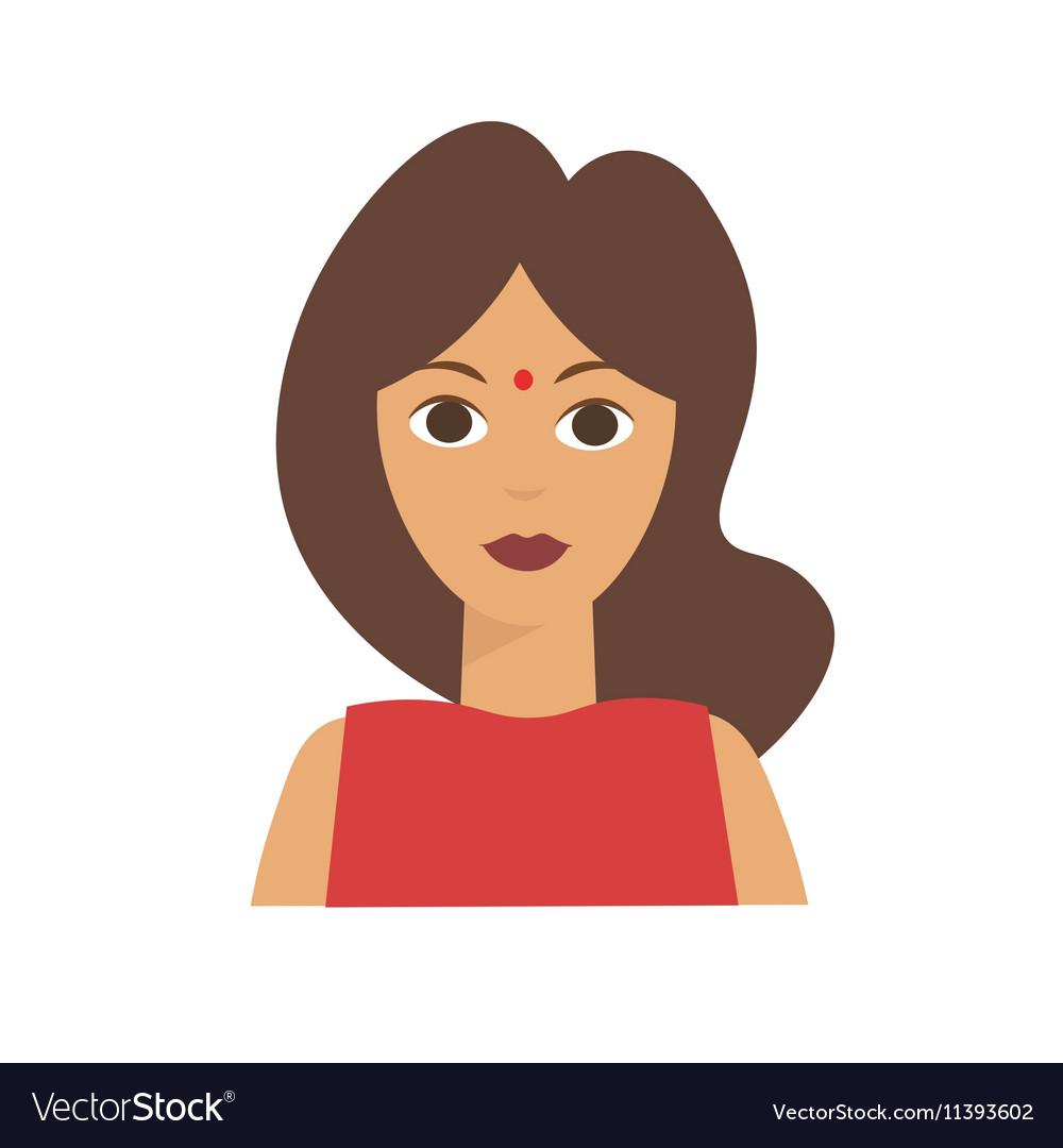 Indian Woman Flat vector image