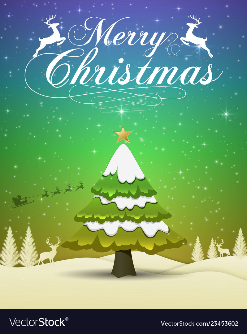 Merry christmas and happy new year 2019 typograph