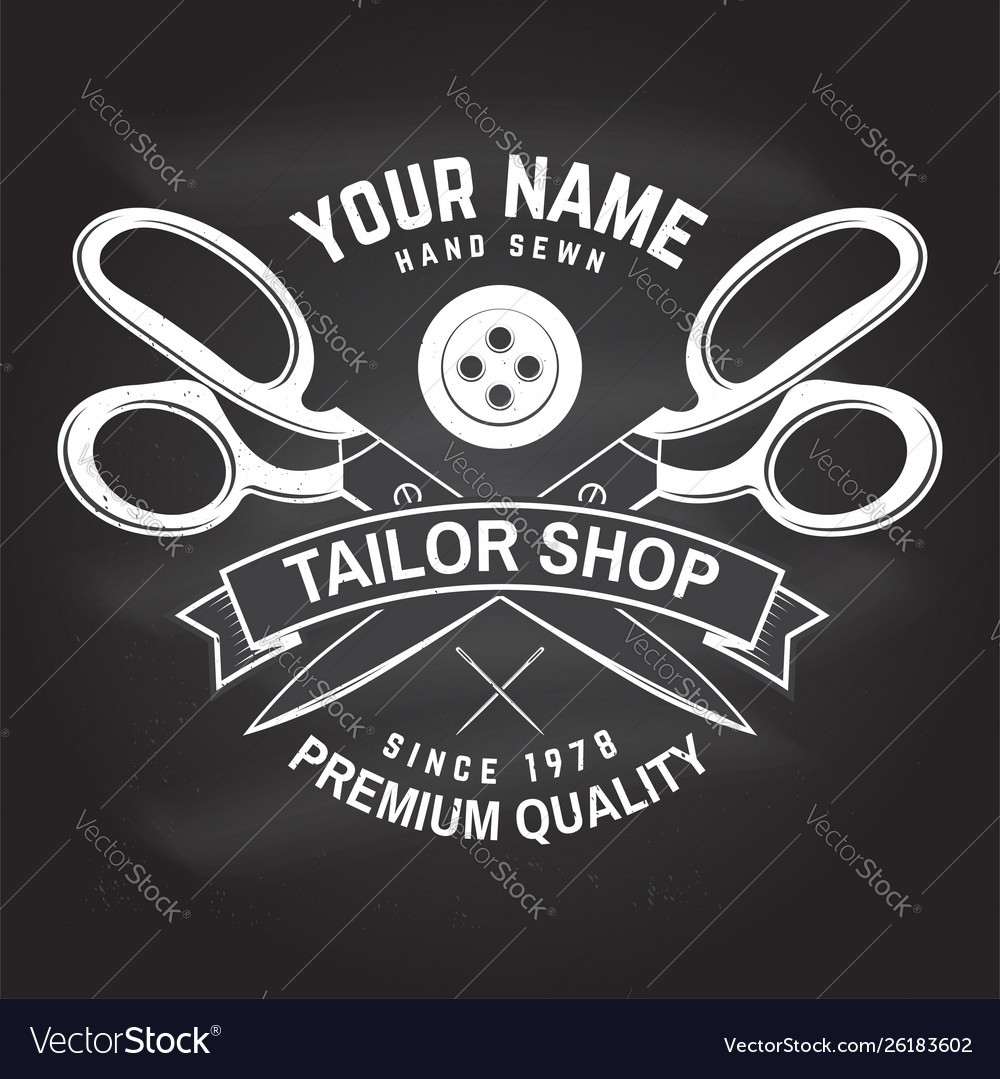 Tailor shop badge concept for shirt