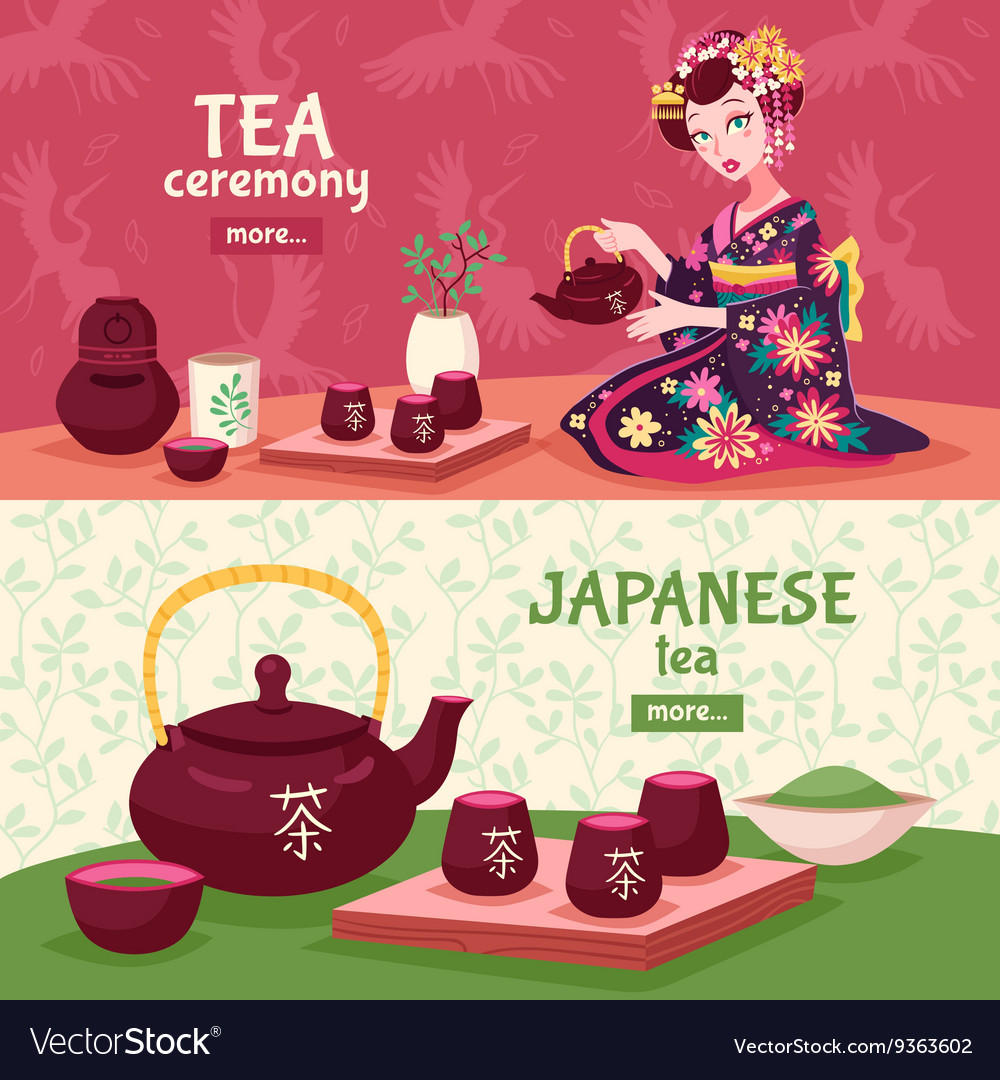 Tea Ceremony Banner Set