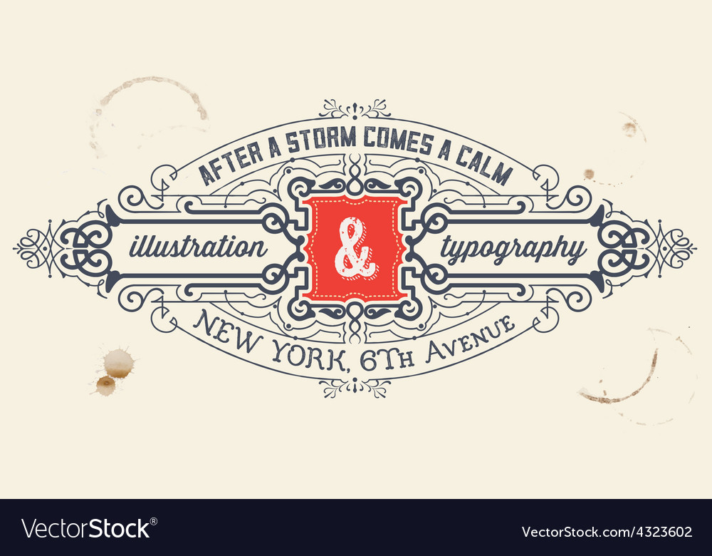 Vintage label organized by layers