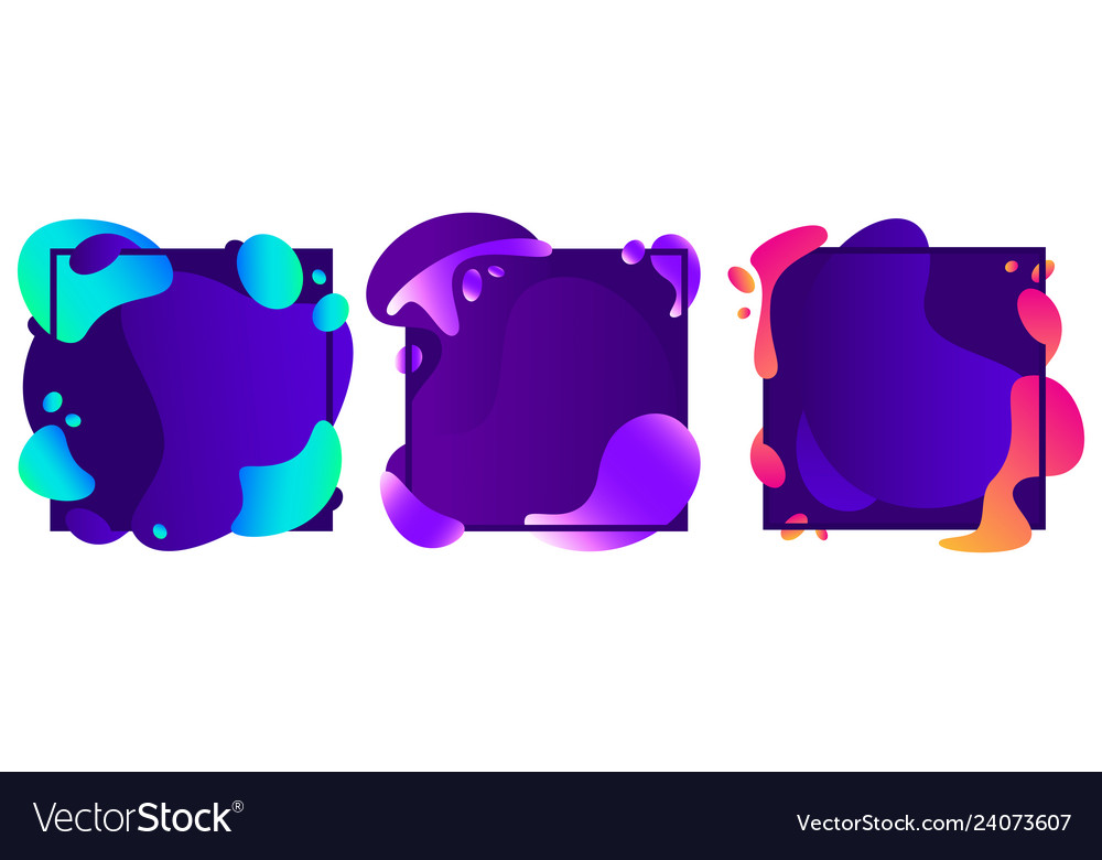 Abstract shapes frames modern fluid gradient