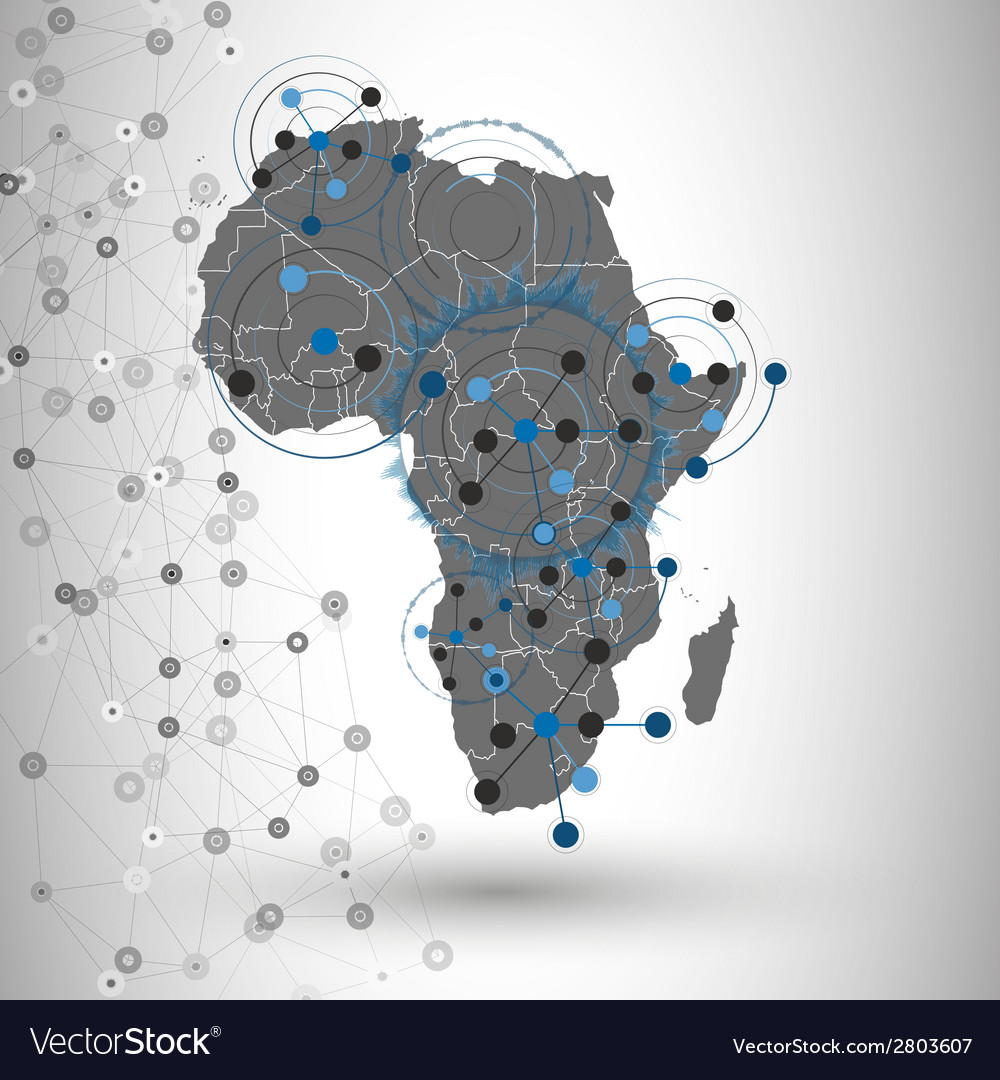 Africa Map Background.Africa Map Background For Communication Royalty Free Vector