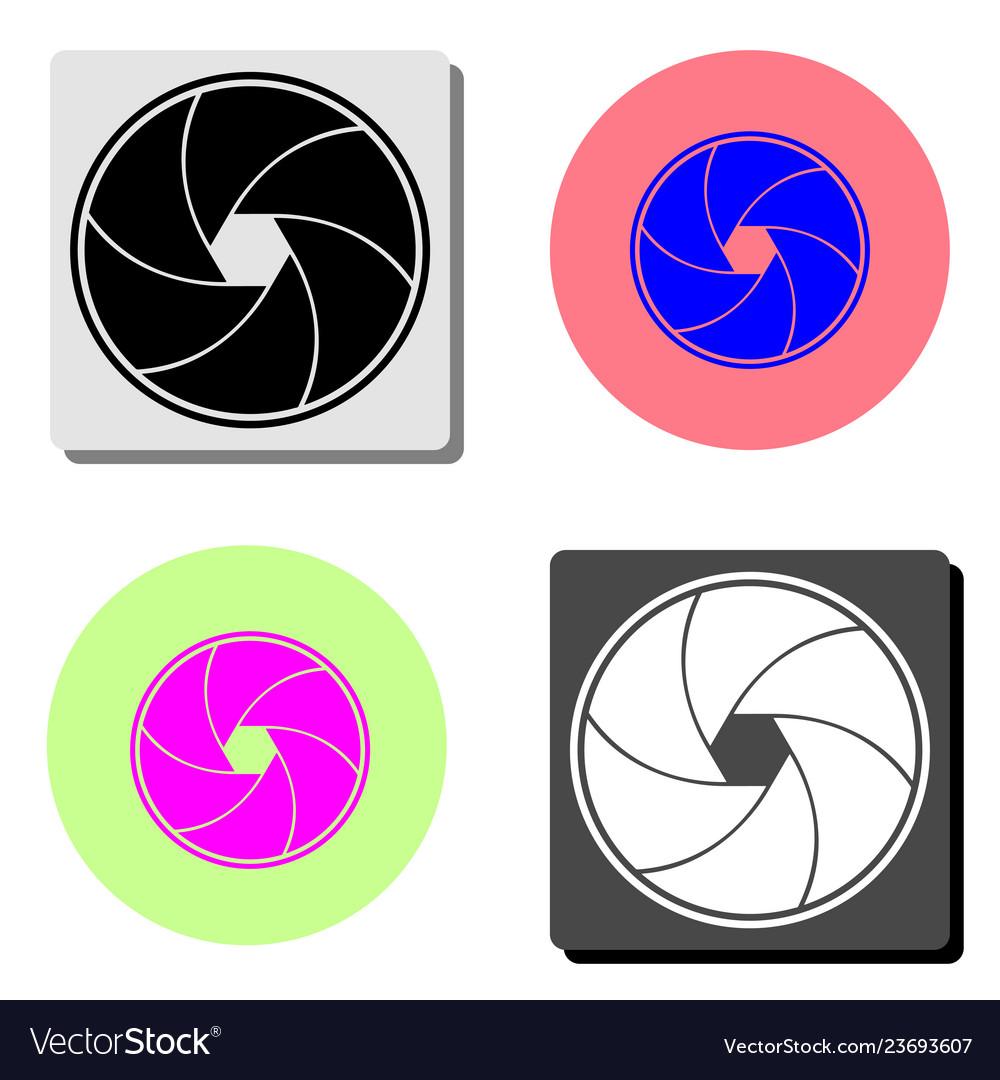 Aperture focus flat icon