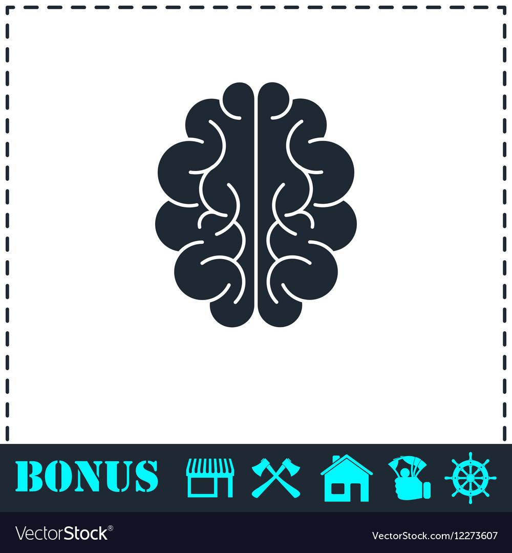 Brain icon flat