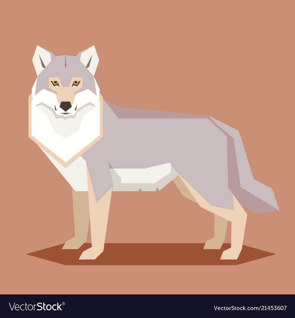 Flat geometric wolf
