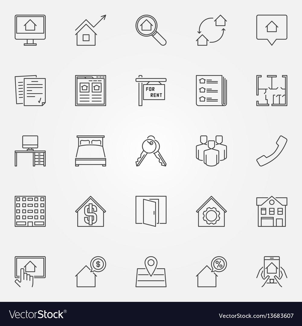 Rent icons set