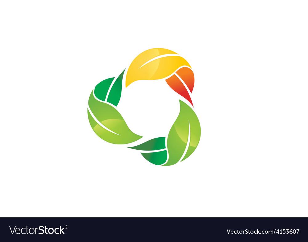 Three Leaf Circle Color Logo