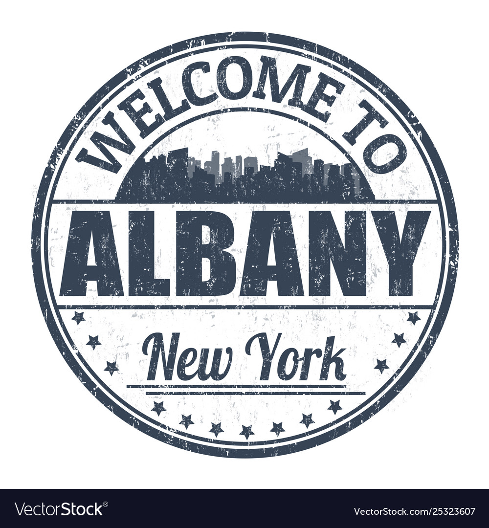 Welcome to albany sign or stamp