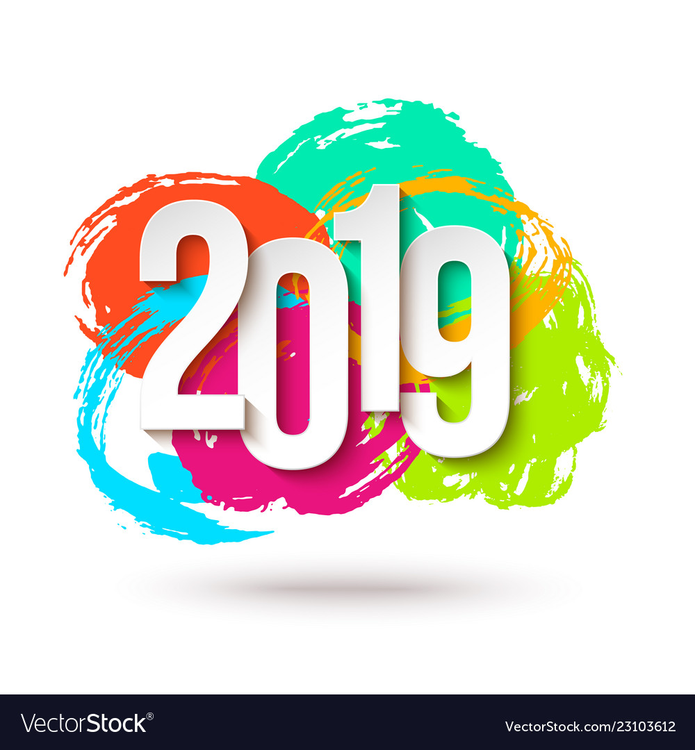 2019 happy new year background for flyers or