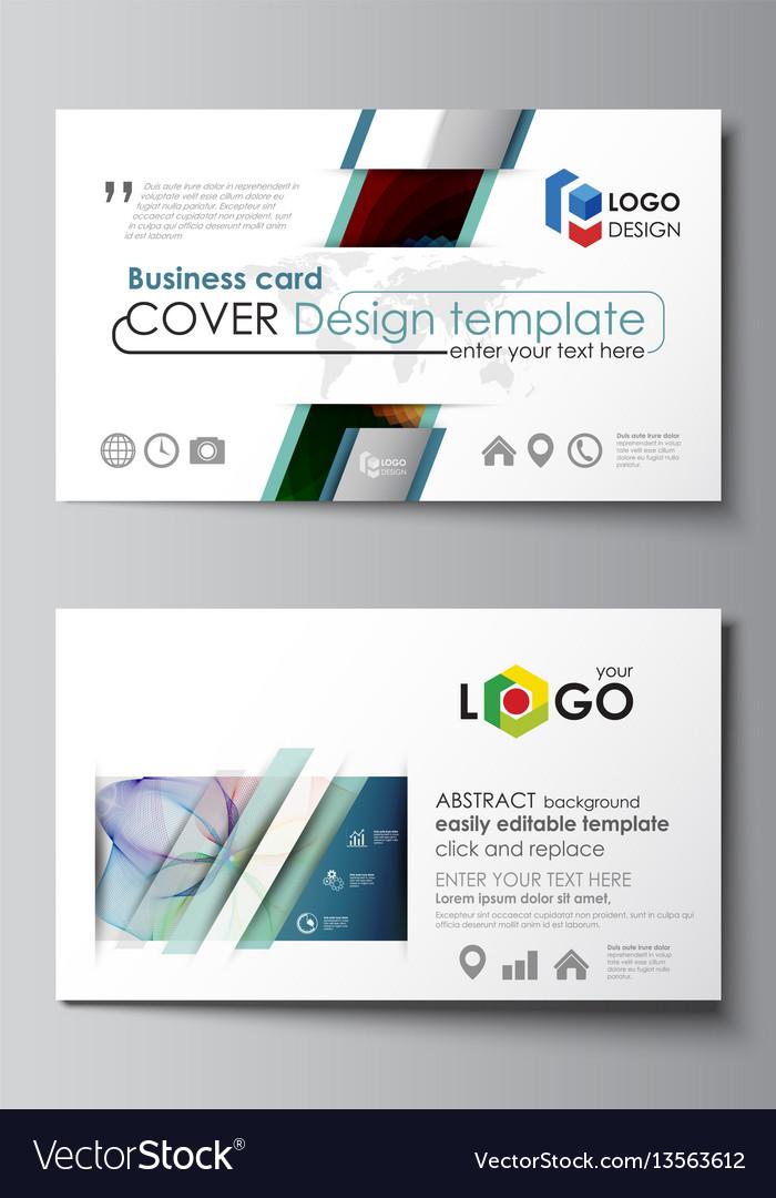 Business card templates easy editable layout vector image colourmoves