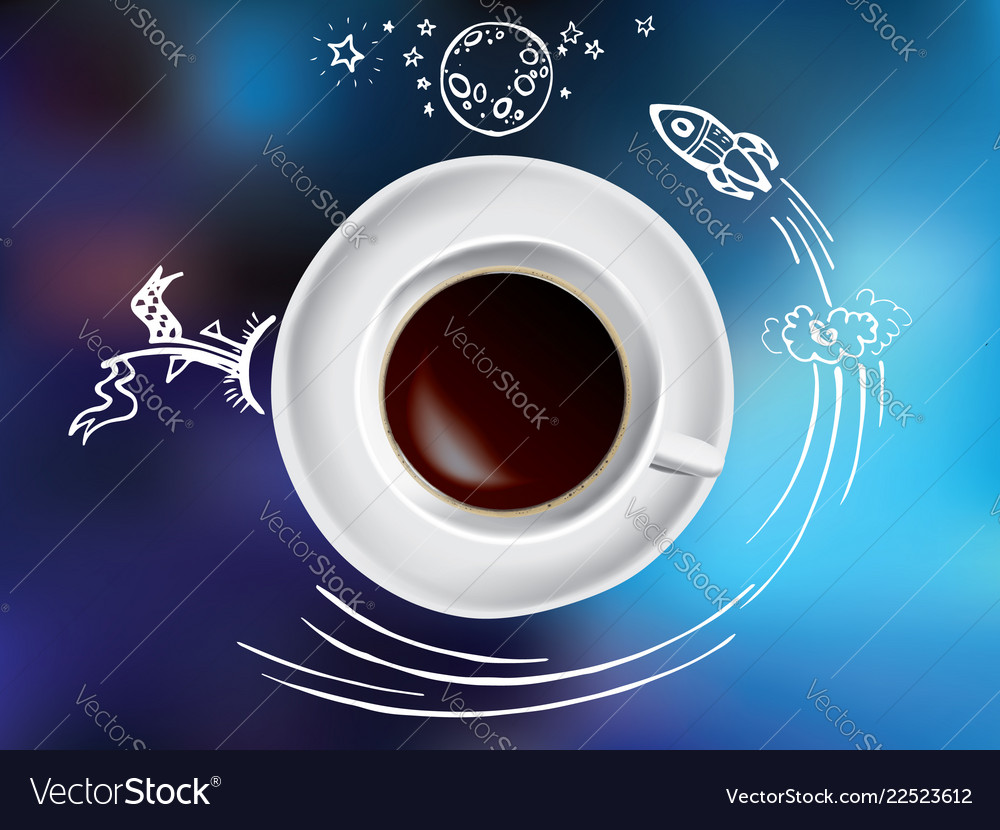 Coffee cup concept - hot coffee mug with space and