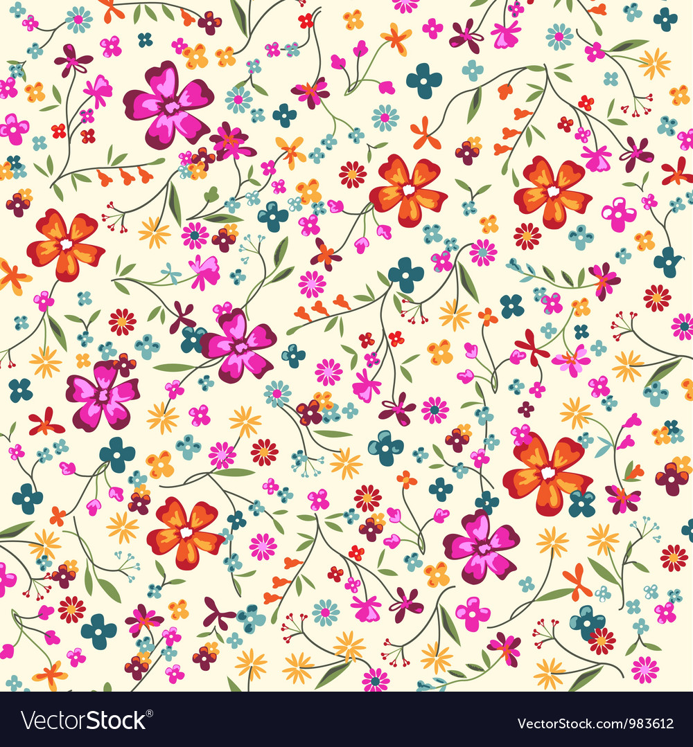 2015 Ditsy Floral Design: Ditsy Floral Royalty Free Vector Image