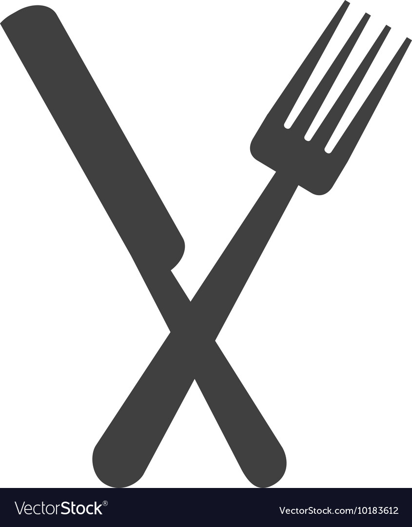 Fork knife cutlery silhouette icon