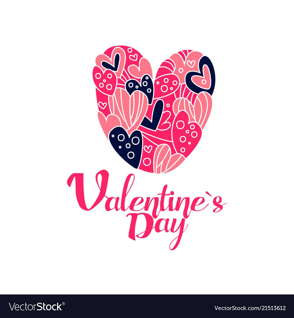 Happy valentines day logo creative template