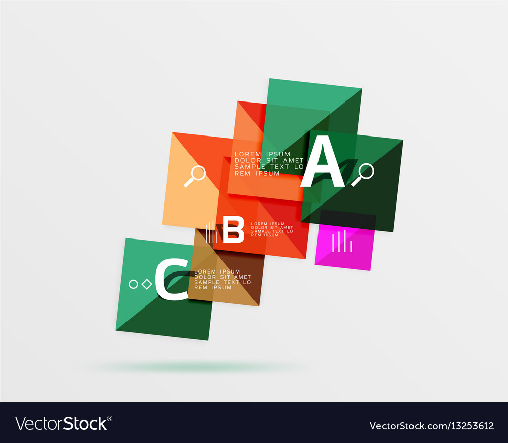 Square geometric abstract background