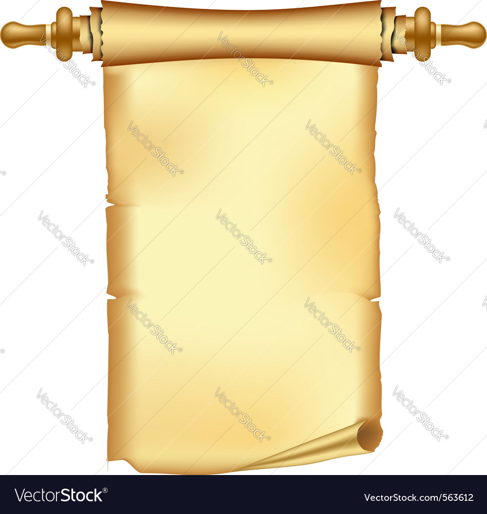 Vintage scroll vector image