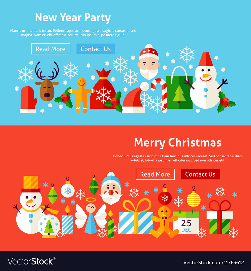 Winter Holidays Website Banners