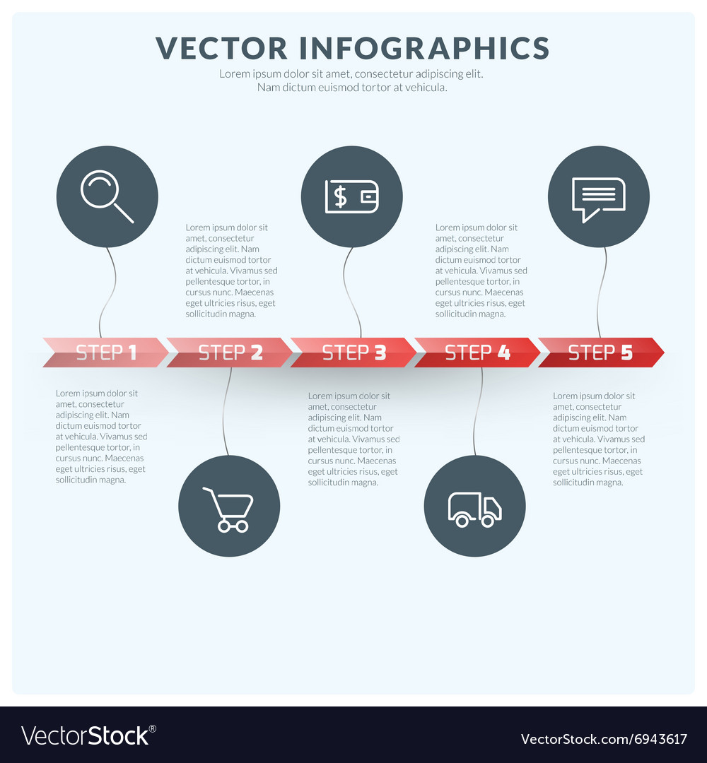 Abstract Infographic Design Element Flat Style for
