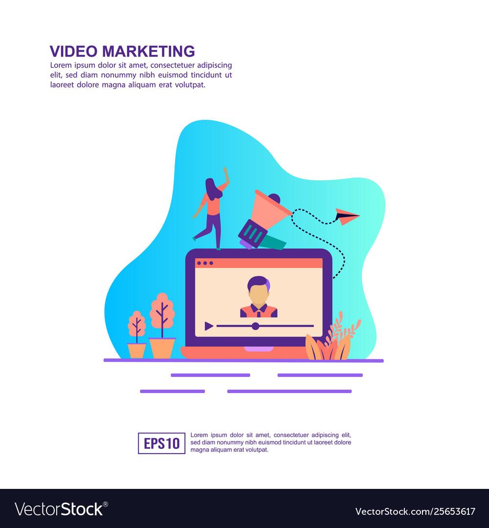 Concept video marketing modern conceptual for