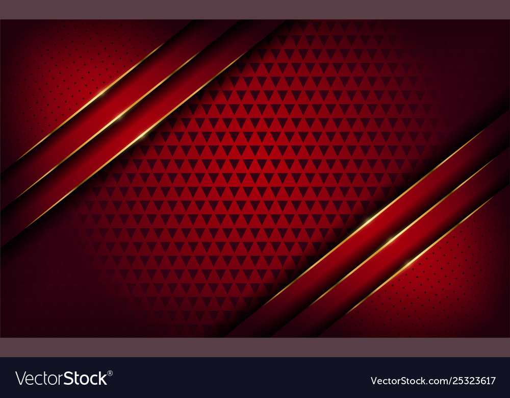 Elegant Red And Gold Line Background
