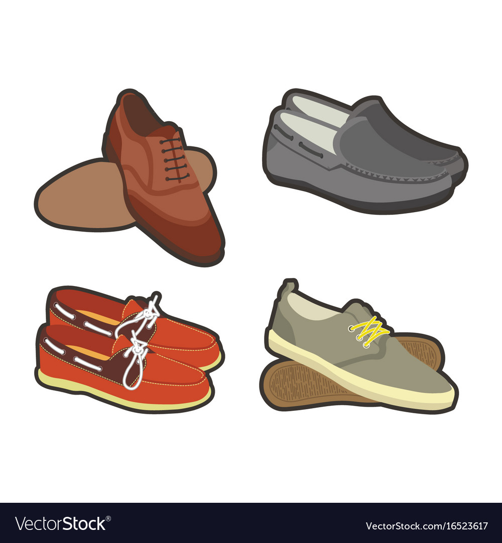 Mens shoes in sport and classical styles set