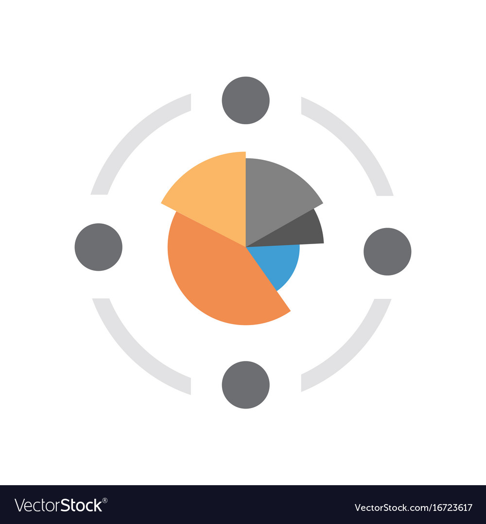 Pie diagram icon colorful financial business chart