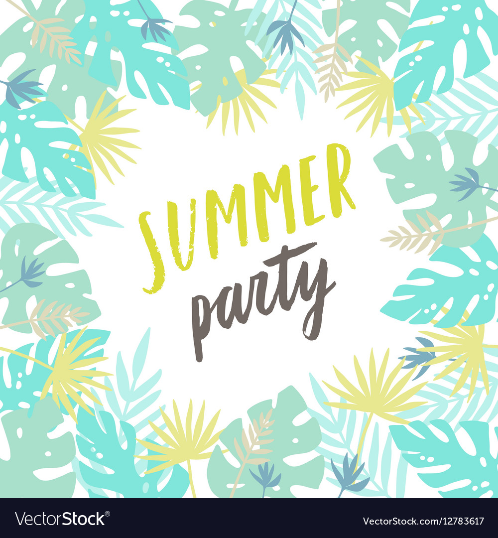 Summer party template Flyer poster