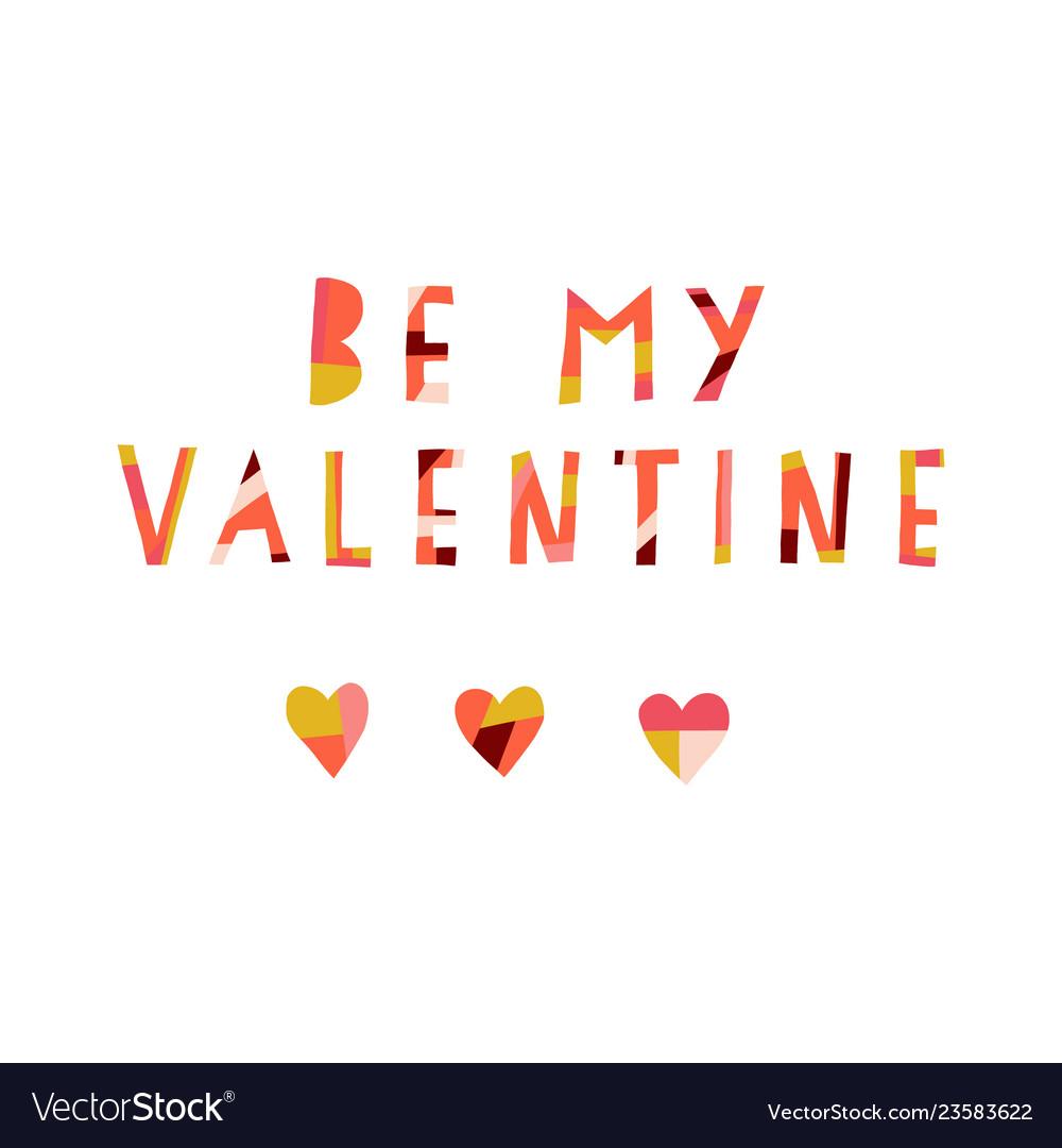 Be my valentine collage