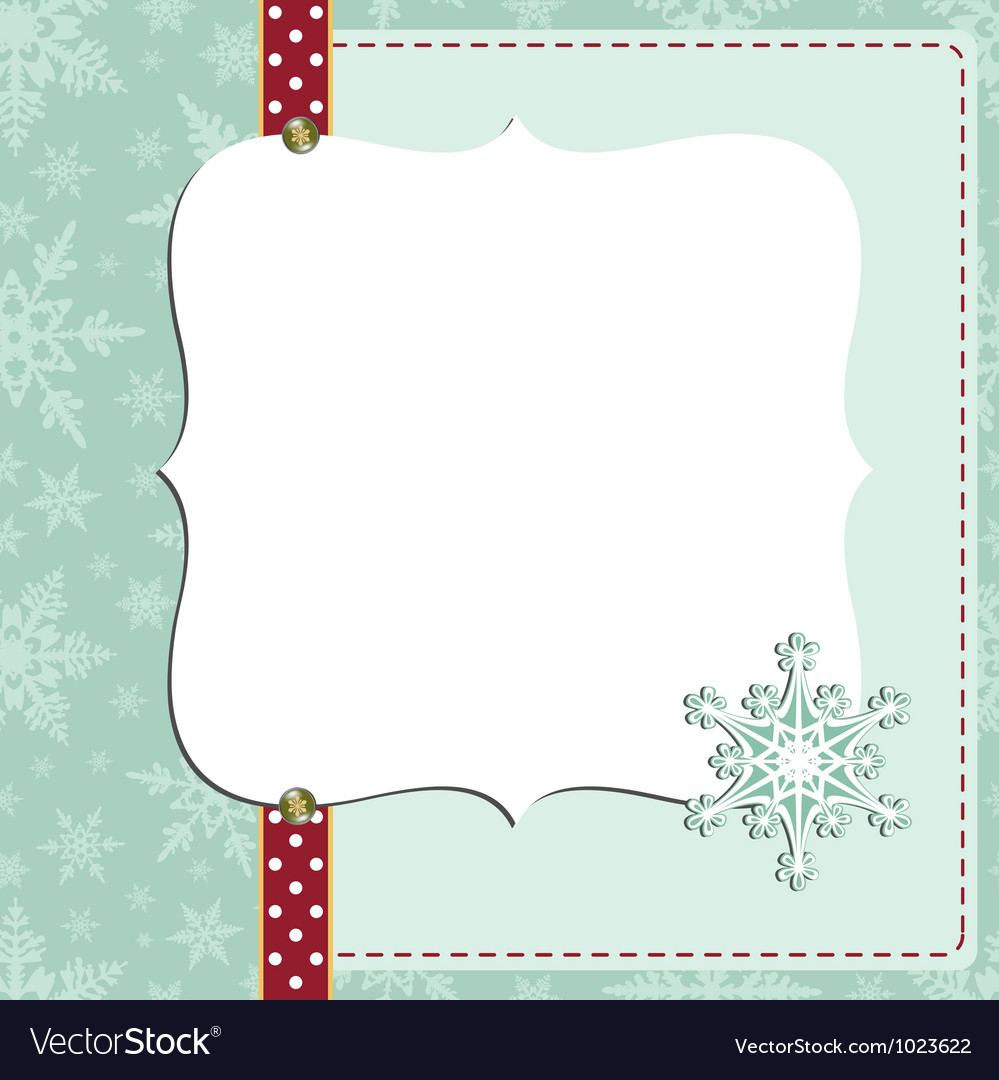 cute christmas new year postcard template vector image