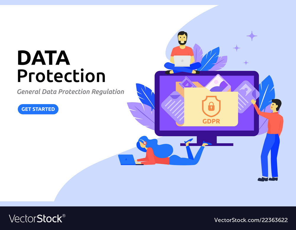 Data protection modern flat design concept