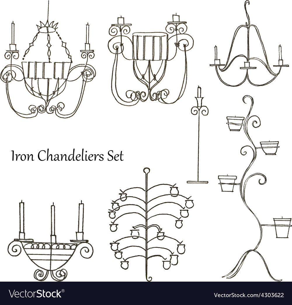 Iron chandeliers set