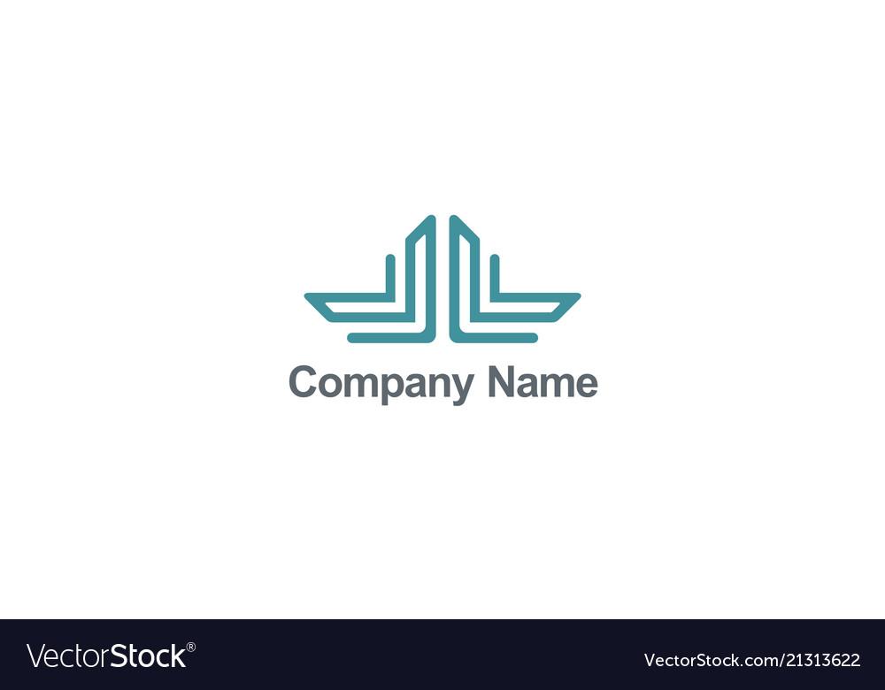 Construction line logo vector