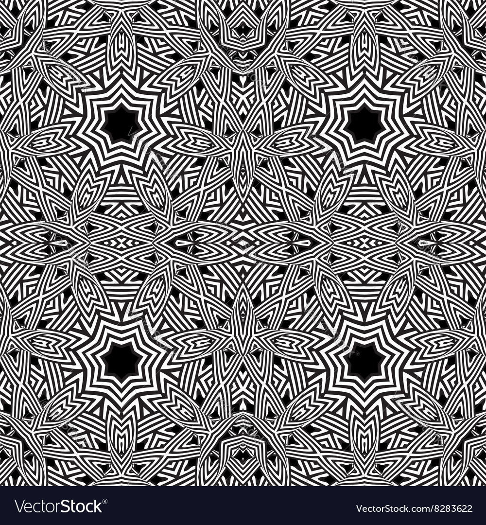 Optical art abstract striped flower vector image