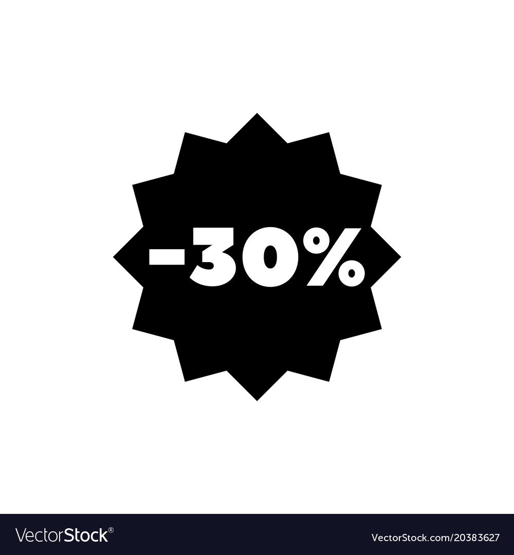 30 percent off sale discount flat icon