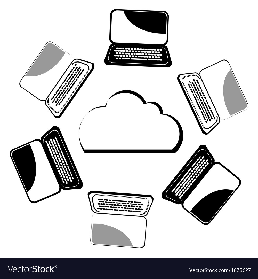 Computer network ISOLATED vector image